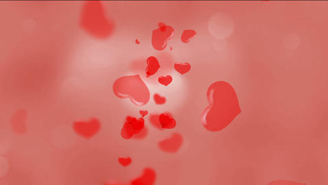Red Hearts and Blurred Lights Animation