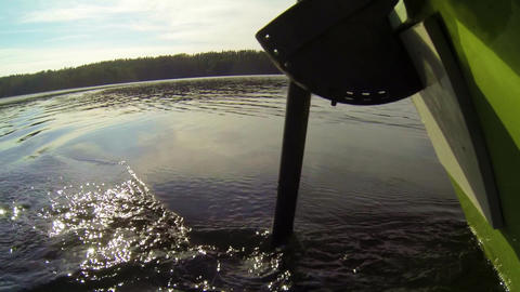 Electric outboard motor running Footage