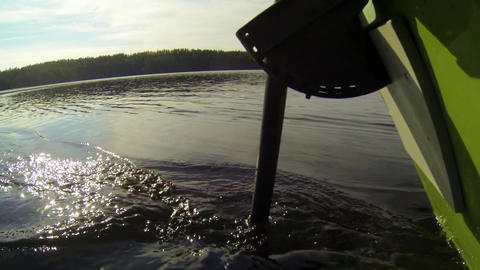 Electric outboard motor running Stock Video Footage