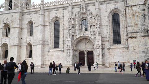 LISBON, circa 2017: Jeronimos Monastery or Hieronymites Monastery. Lisbon is Footage