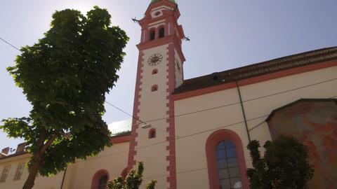 tracking shot on church, Innsbruck Footage