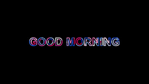 Letters are collected in common expression GOOD MORNING, then scattered into Animation