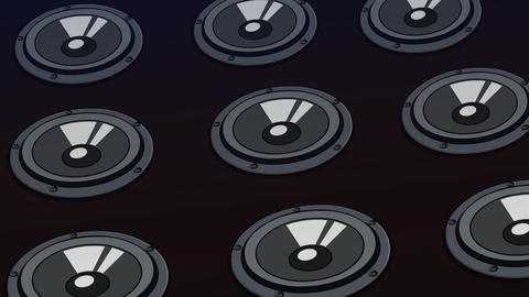Animated Black Music Speakers background, seamless loop CG動画素材