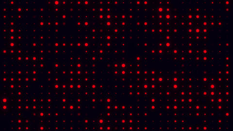Red Glowing Digital Dots Code VJ Loop Motion Background 애니메이션