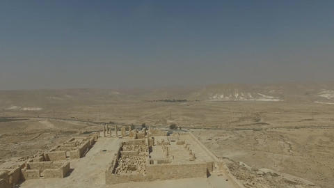 UNESCO World Heritage. The ancient city of Avdat (Israel) Footage