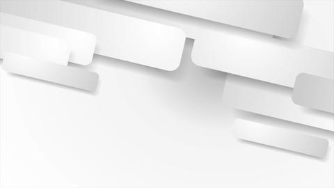 White and grey paper geometric video animation Animation