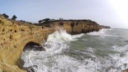 Strong waves at cliffs, slow motion 영상물