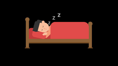 Man Sleeping in Bed Animation