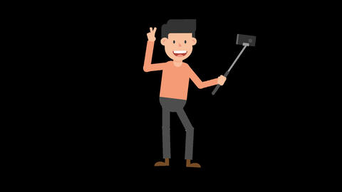 Man Taking a Selfie Animation