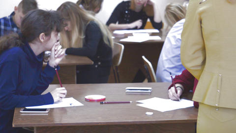 Students in the classroom Footage