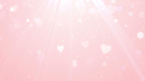 Pink Valentine heart background, looped Animation