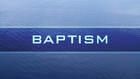 Baptism water banner Footage