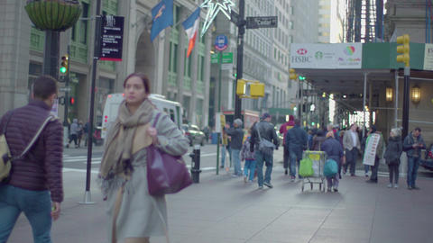 New York street from moving shot, Live Action