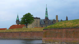 Kronborg castle, Helsingor, Zealand, Danmark, Europe Footage