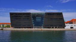The Black Diamond, the Royal Danish Library Copenhagen, Denmark Footage
