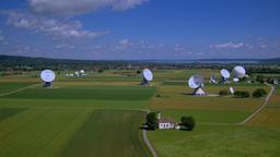 Satellite earth station Raisting, Upper Bavaria, Germany Footage