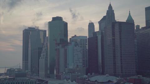 New York City Manhattan Skyline Footage