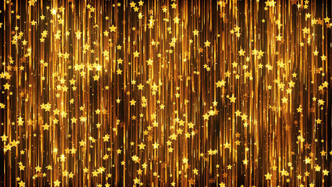 Stars Gold Particles Background Animación