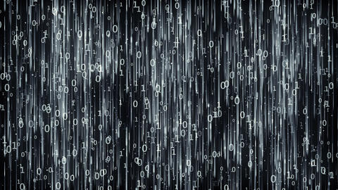 Data Digital Code Dark Background CG動画素材