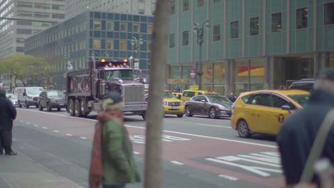 pedestrians on the sidewalk, 4K Footage
