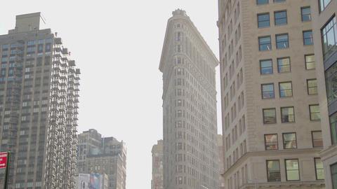 Flatiron Building 5Th Ave Manhattan New York 4K Live Action
