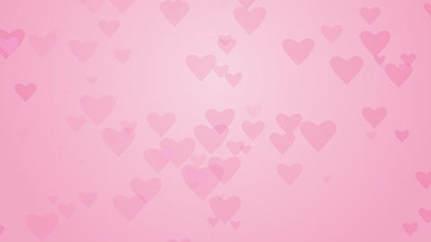 Heart shapes on light pink background. Computer generated seamless loop romantic Live Action