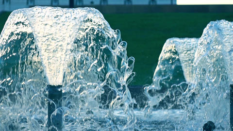 Super slow motion shot of a fountain, 240 fps Footage