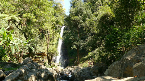 The waterfall of Gitgit, Bali, Indonesia Live Action