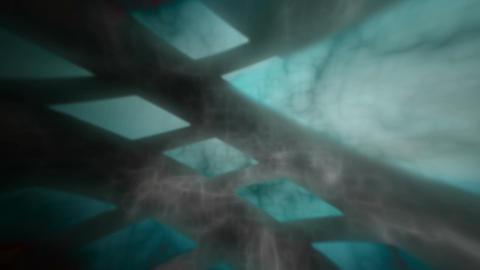 grunge tunnel Stock Video Footage