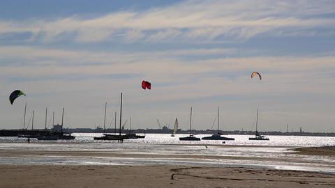 kitesurfing practice Stock Video Footage