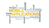 Mobile Applications stock footage