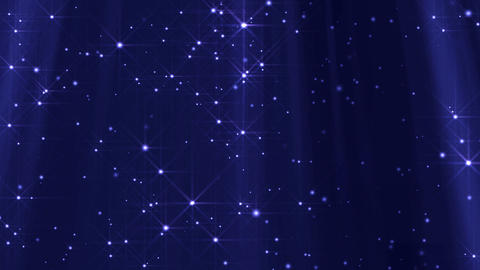 Looped Lights And Stars Background (Blue) Stock Video Footage