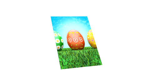 Easter Card (HD 30fps + Alpha) CG動画素材