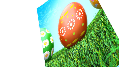 Easter Card (HD 30fps + Alpha) Stock Video Footage