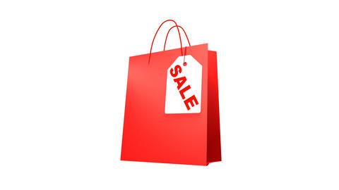 Sale Label Bag (HD 30fps + Alpha) Stock Video Footage