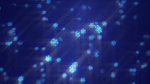 Looped snow Background (Blue) Stock Video Footage