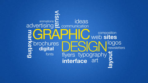 Graphic Design Stock Video Footage