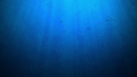 Underwater Scene, Computer Generated, Loops seamless Stock Video Footage