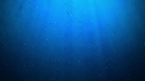 Underwater Scene, Computer Generated, Loops seamless Animation