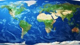 Realistic World Map Wraps To Globe (white Backgrou stock footage