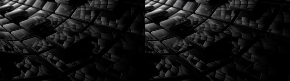 Radial Panels - Stereoscopic 3D Stock Video Footage