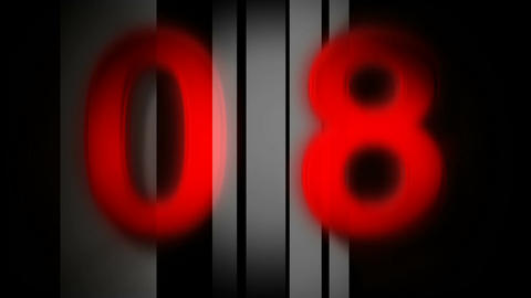 red countdown Stock Video Footage