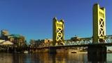Tower Bridge over Sacramento River Footage