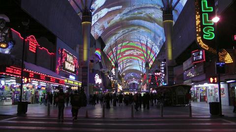 Fremont Street in Las Vegas Stock Video Footage
