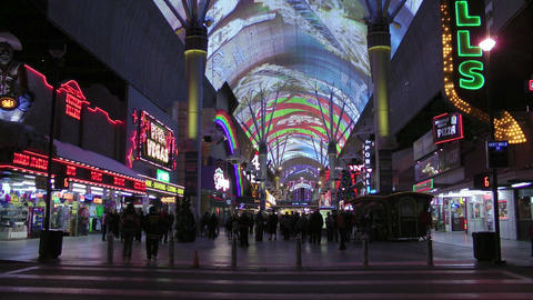 Fremont Street in Las Vegas Stock Video Footage