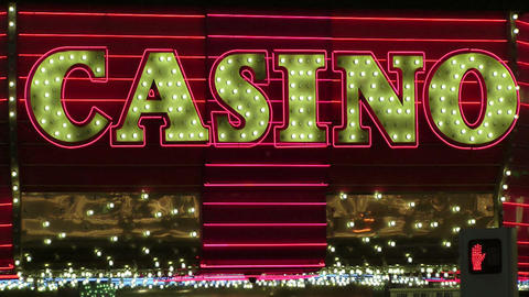 The word Casino in lights Stock Video Footage