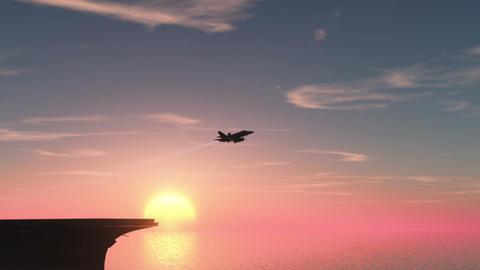 空母と戦闘機 Stock Video Footage