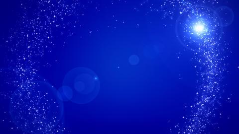 Shiny sparks making circle around background Animation