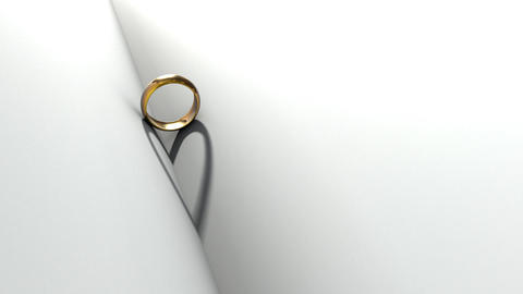Wedding Ring Book Stock Video Footage