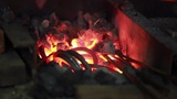 fire in the forge furnace Footage